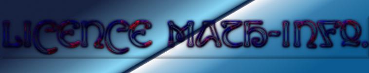 Licence Math-Info